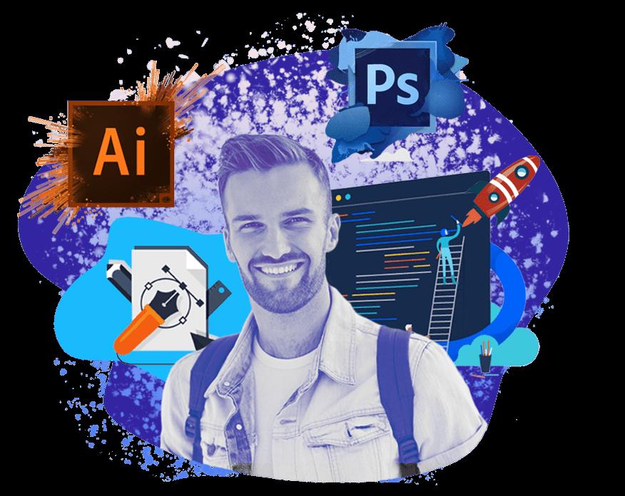 Курсы Дизайн для начинающих <br> (Photoshop, Illustrator) в Казани